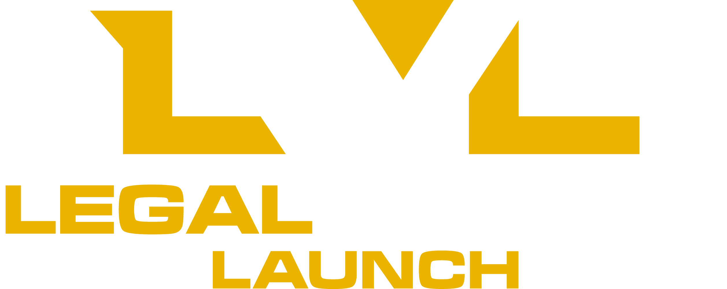 Legal Writing Launch Logo with Trademark Light for Dark backgrounds