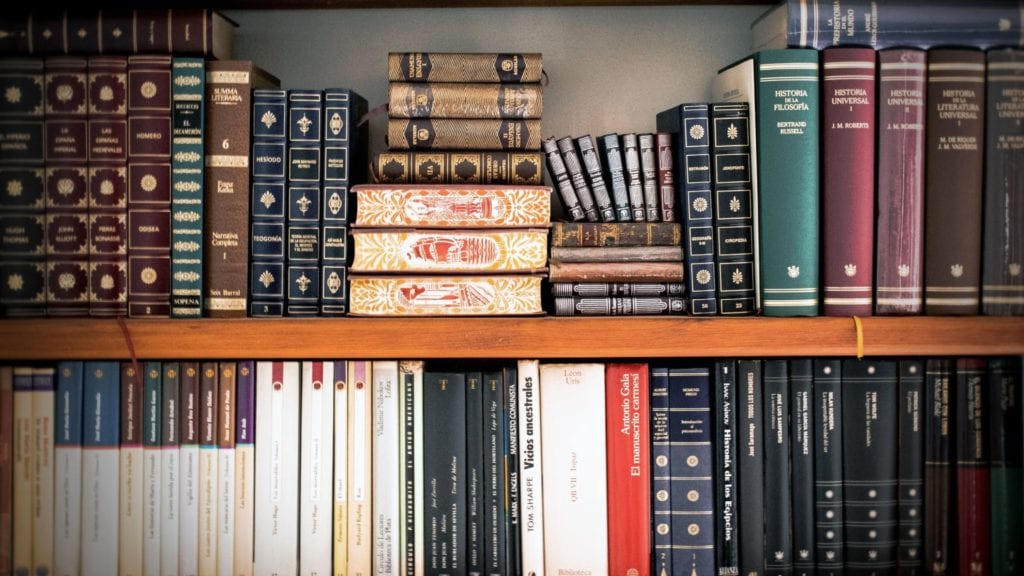 law library books on a shelf